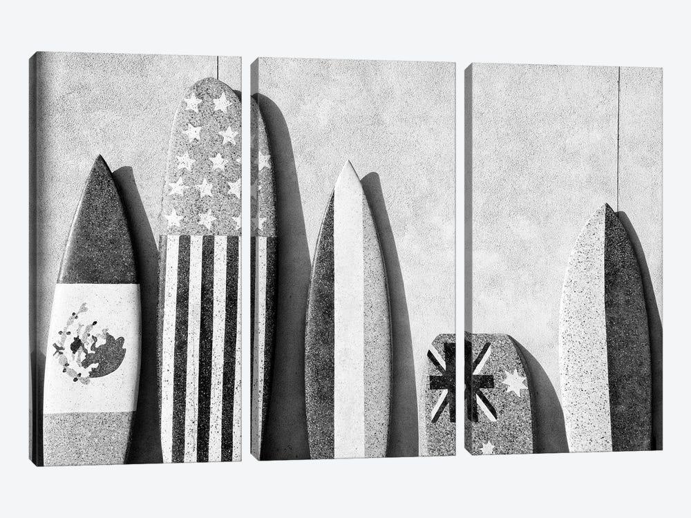 Black California Series - Surf Boards by Philippe Hugonnard 3-piece Canvas Artwork
