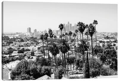 Black California Series - Los Angeles View Canvas Art Print