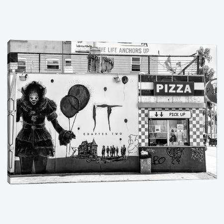 Black California Series - Pizza IT Canvas Print #PHD1804} by Philippe Hugonnard Canvas Wall Art