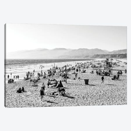 Black California Series - Santa Monica Bay Beach Canvas Print #PHD1813} by Philippe Hugonnard Canvas Wall Art