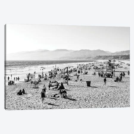 Black California Series - Santa Monica Bay Beach Canvas Print #PHD1813} by Philippe Hugonnard Canvas Wall Art