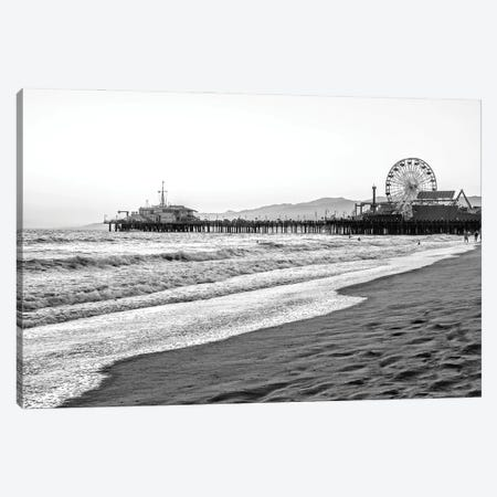 Black California Series - Summer In Santa Monica Canvas Print #PHD1816} by Philippe Hugonnard Art Print