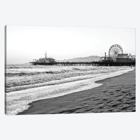 Black California Series - Summer In Santa Monica Canvas Print #PHD1816} by Philippe Hugonnard Art Print