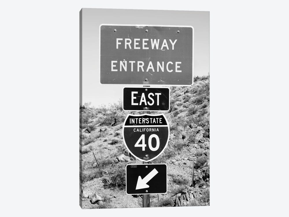 Black California Series - Interstate California 40 by Philippe Hugonnard 1-piece Canvas Wall Art