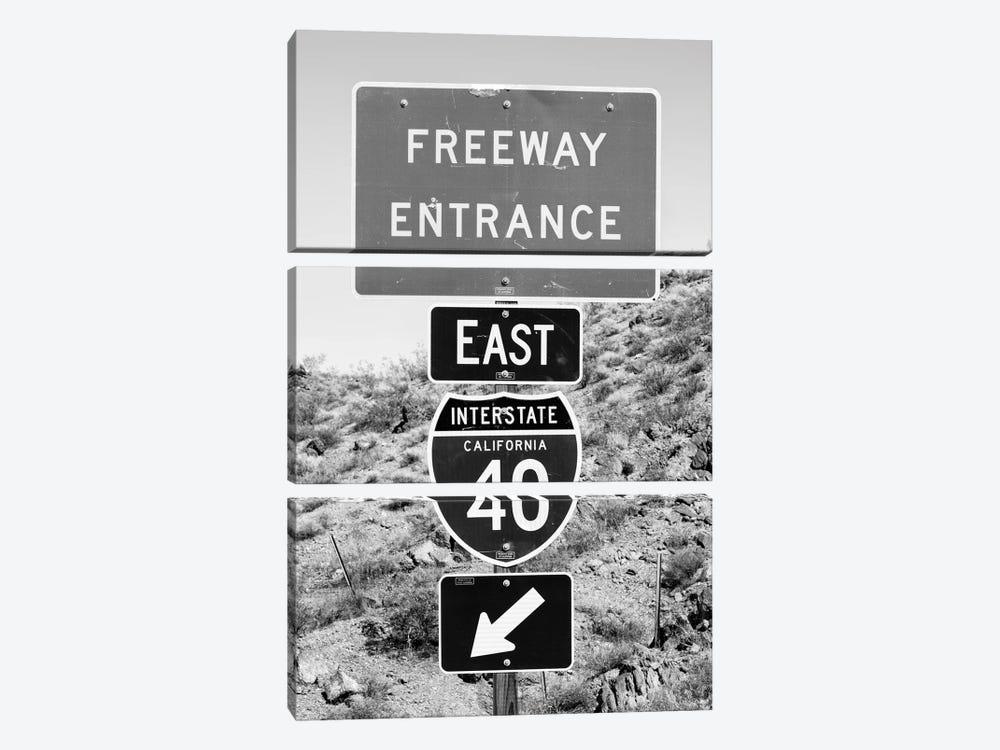 Black California Series - Interstate California 40 by Philippe Hugonnard 3-piece Canvas Art