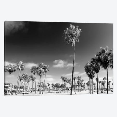Black California Series - Venice City Beach Canvas Print #PHD1822} by Philippe Hugonnard Canvas Print