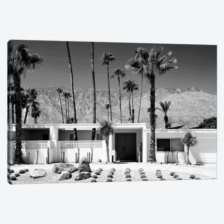 Black California Series - White House Palm Springs Canvas Print #PHD1830} by Philippe Hugonnard Canvas Artwork