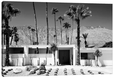 Black California Series - White House Palm Springs Canvas Art Print