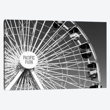 Black California Series - Pacific Wheel Santa Monica Canvas Print #PHD1837} by Philippe Hugonnard Art Print
