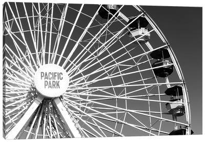 Black California Series - Pacific Wheel Santa Monica Canvas Art Print
