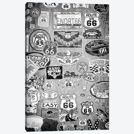 Black California Series - Route 66 The American Legend Canvas Print #PHD1846} by Philippe Hugonnard Canvas Artwork