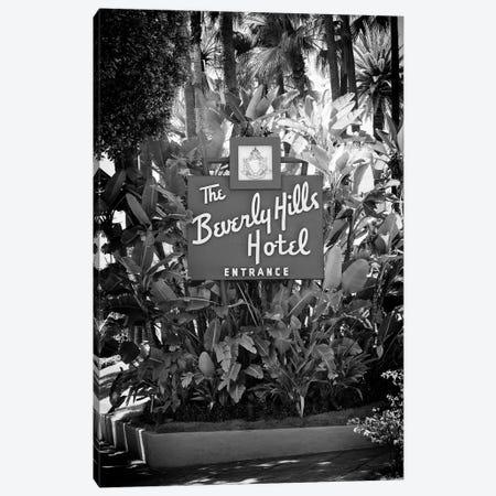 Black California Series - L.A Beverly Hills Hotel Canvas Print #PHD1851} by Philippe Hugonnard Canvas Wall Art