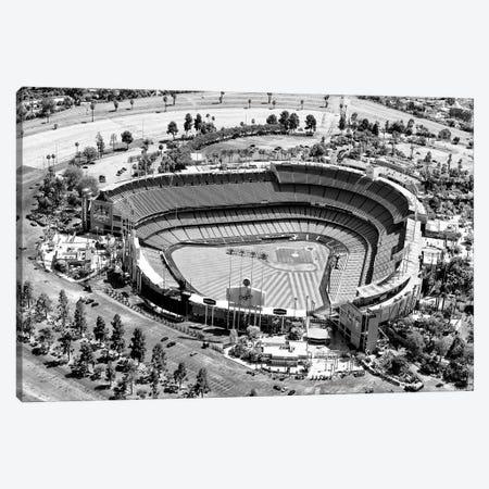 Black California Series - L.A Dodger Stadium Canvas Print #PHD1856} by Philippe Hugonnard Art Print