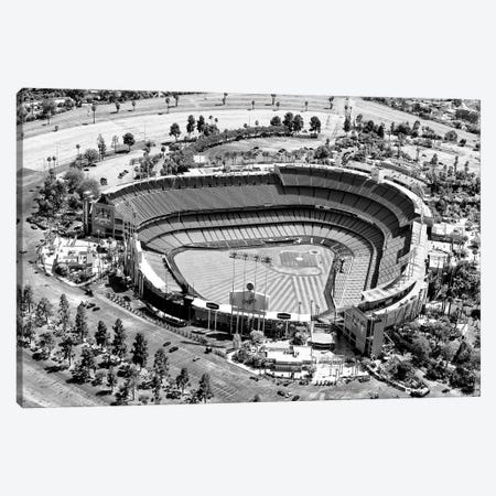 Black California Series - L.A Dodger Stadium Canvas Print #PHD1856} by Philippe Hugonnard Art Print