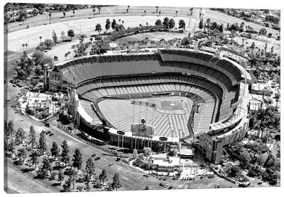 Black California Series - L.A Dodger Stadium Canvas Art Print