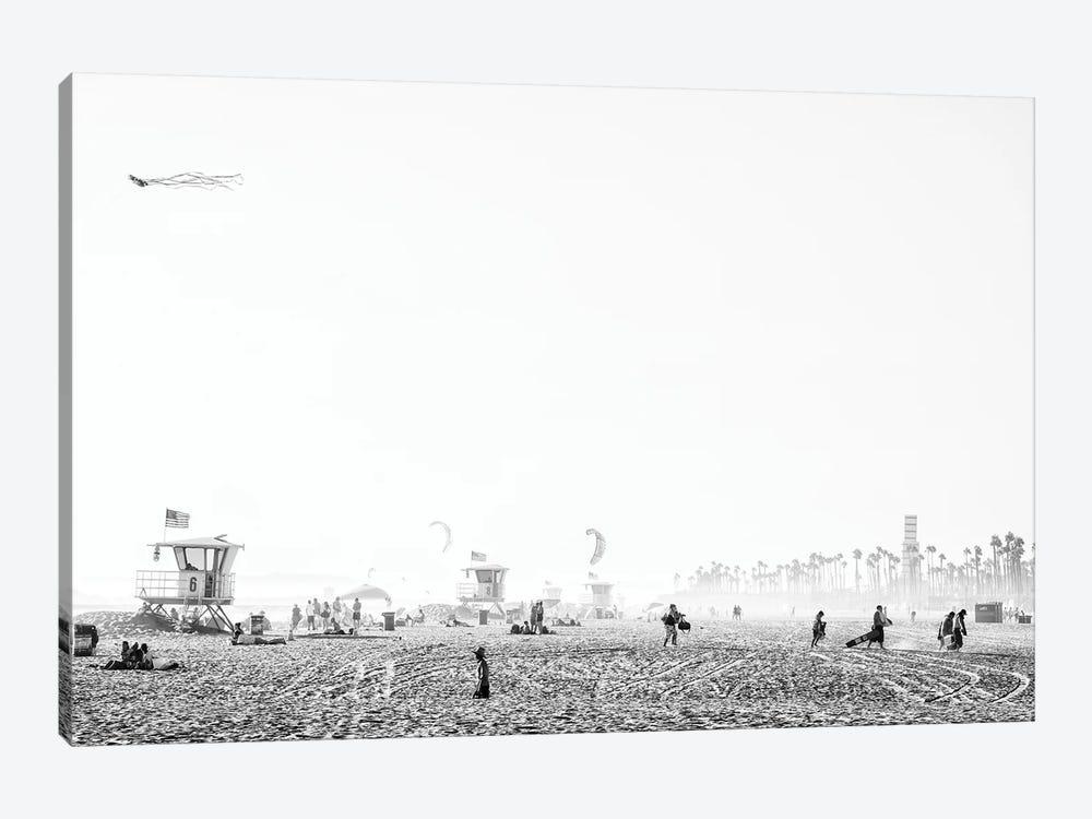 Black California Series - Huntington Beach by Philippe Hugonnard 1-piece Canvas Wall Art