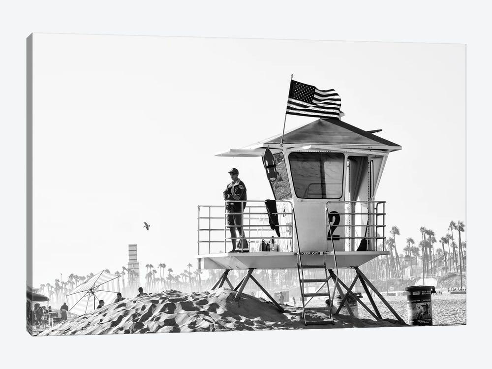 Black California Series - Lifeguard Tower #2 by Philippe Hugonnard 1-piece Art Print