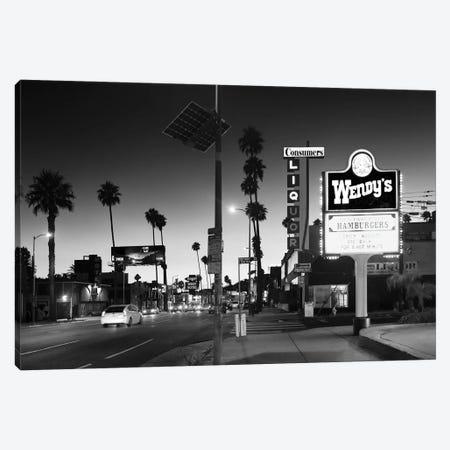 Black California Series - Sunset Blvd By Night Canvas Print #PHD1863} by Philippe Hugonnard Art Print