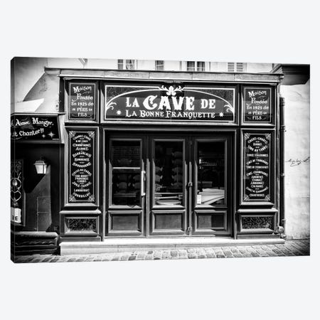 Black Montmartre Series - La Cave Canvas Print #PHD1866} by Philippe Hugonnard Canvas Art