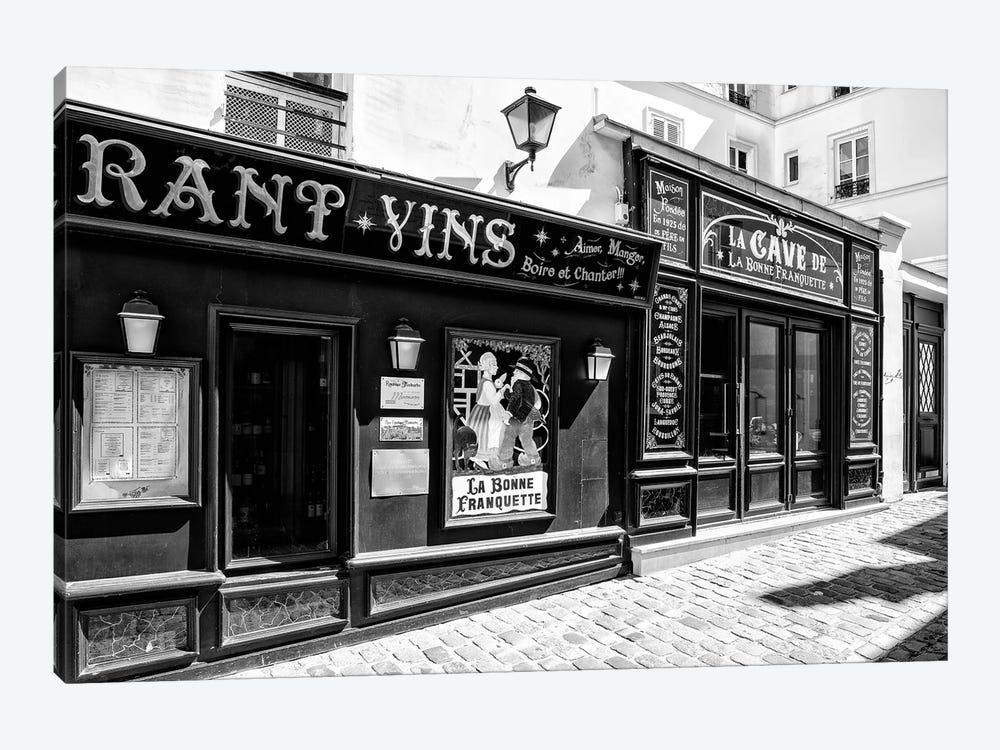 Black Montmartre Series - La Bonne Franquette by Philippe Hugonnard 1-piece Canvas Artwork