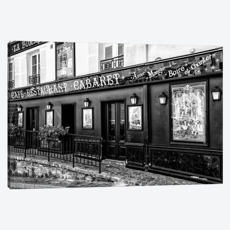Black Montmartre Series - Cabaret Canvas Print #PHD1868} by Philippe Hugonnard Art Print