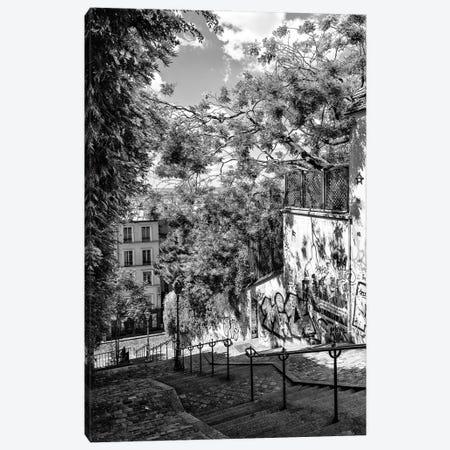 Black Montmartre Series - Staircases Canvas Print #PHD1869} by Philippe Hugonnard Art Print