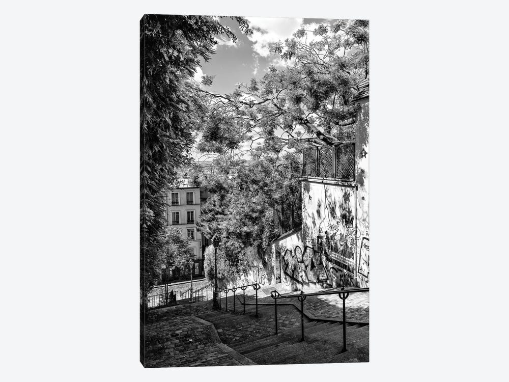 Black Montmartre Series - Staircases by Philippe Hugonnard 1-piece Canvas Art