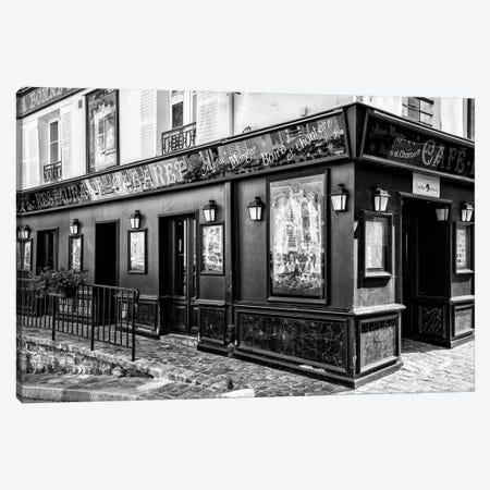 Black Montmartre Series - Paris Cabaret Canvas Print #PHD1870} by Philippe Hugonnard Canvas Artwork