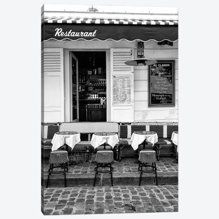 Black Montmartre Series - French Restaurant Canvas Print #PHD1872} by Philippe Hugonnard Canvas Art