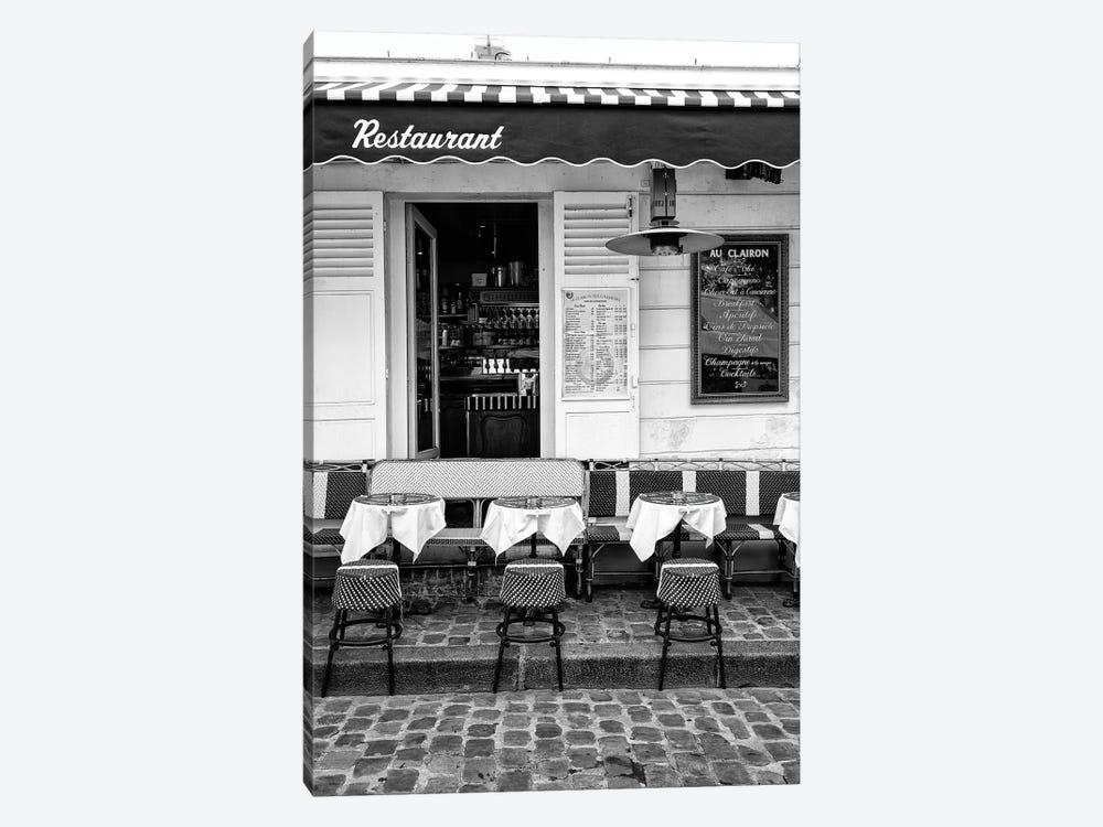 Black Montmartre Series - French Restaurant by Philippe Hugonnard 1-piece Canvas Artwork