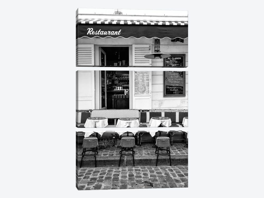 Black Montmartre Series - French Restaurant by Philippe Hugonnard 3-piece Canvas Art