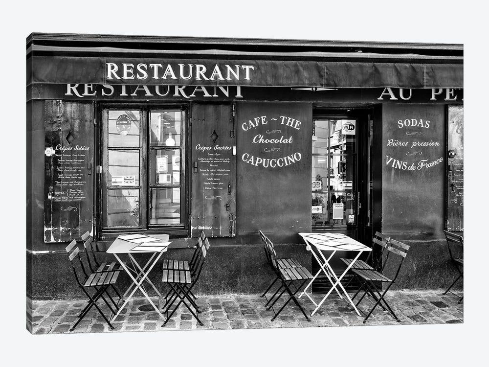 Black Montmartre Series - Café Restaurant by Philippe Hugonnard 1-piece Art Print