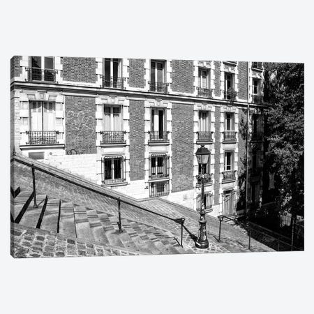 Black Montmartre Series - French Architecture Canvas Print #PHD1876} by Philippe Hugonnard Canvas Art Print