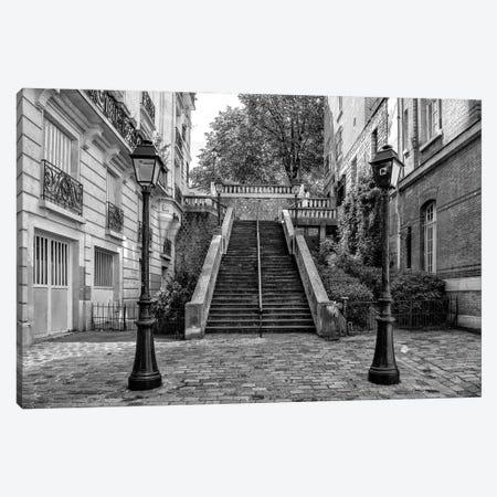 Black Montmartre Series - Between Two Lamps Canvas Print #PHD1880} by Philippe Hugonnard Art Print