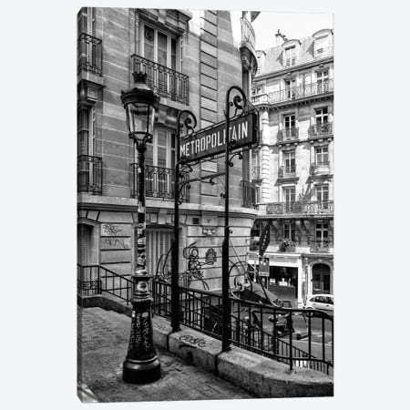 Black Montmartre Series - Metropolitain Canvas Print #PHD1882} by Philippe Hugonnard Canvas Art Print