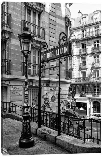 Black Montmartre Series - Metropolitain Canvas Art Print
