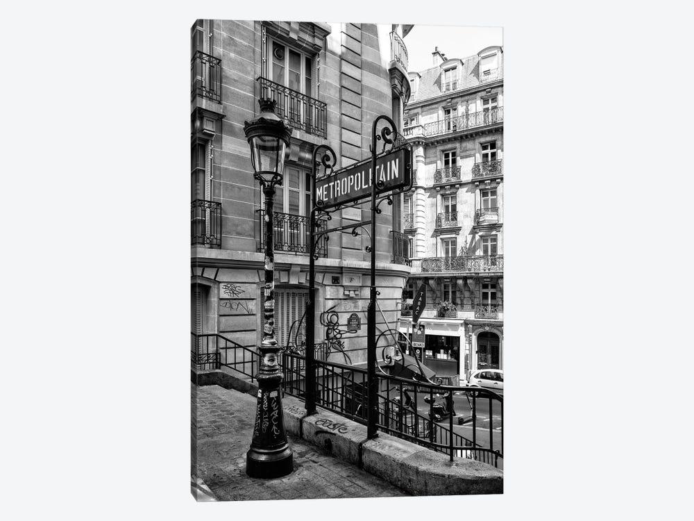 Black Montmartre Series - Metropolitain by Philippe Hugonnard 1-piece Canvas Art Print