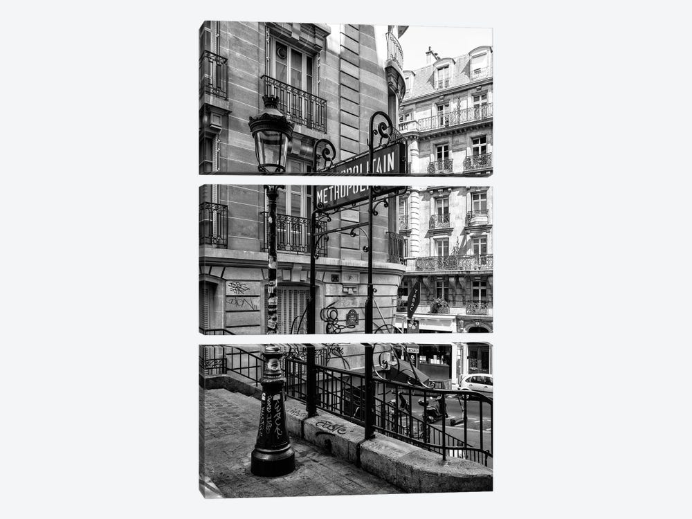 Black Montmartre Series - Metropolitain by Philippe Hugonnard 3-piece Art Print