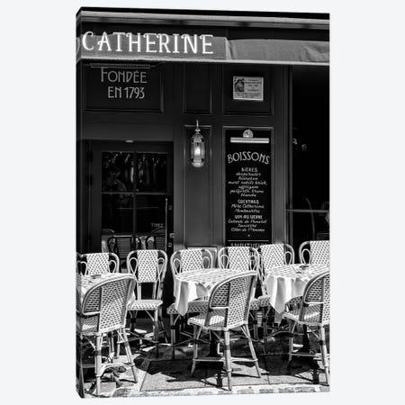 Black Montmartre Series - Café Paris Canvas Print #PHD1883} by Philippe Hugonnard Canvas Art Print
