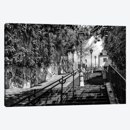 Black Montmartre Series - La Butte Montmartre Canvas Print #PHD1886} by Philippe Hugonnard Canvas Artwork