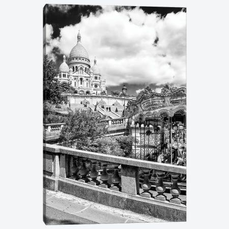 Black Montmartre Series - Carousel Sacré-Coeur Canvas Print #PHD1887} by Philippe Hugonnard Canvas Wall Art