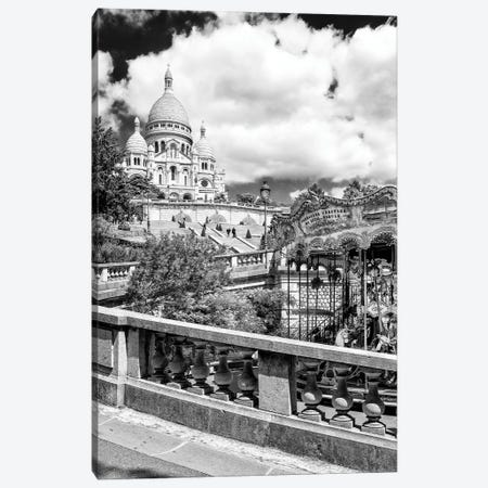 Black Montmartre Series - Carousel Sacré-Coeur Canvas Print #PHD1887} by Philippe Hugonnard Canvas Wall Art