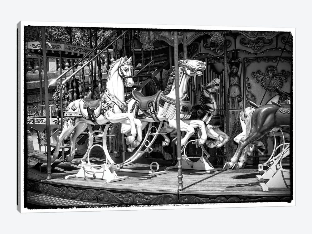 Black Montmartre Series - Paris Carousel by Philippe Hugonnard 1-piece Art Print