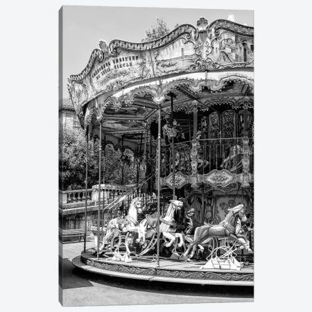 Black Montmartre Series - Paris Merry-Go-Round Canvas Print #PHD1890} by Philippe Hugonnard Canvas Wall Art