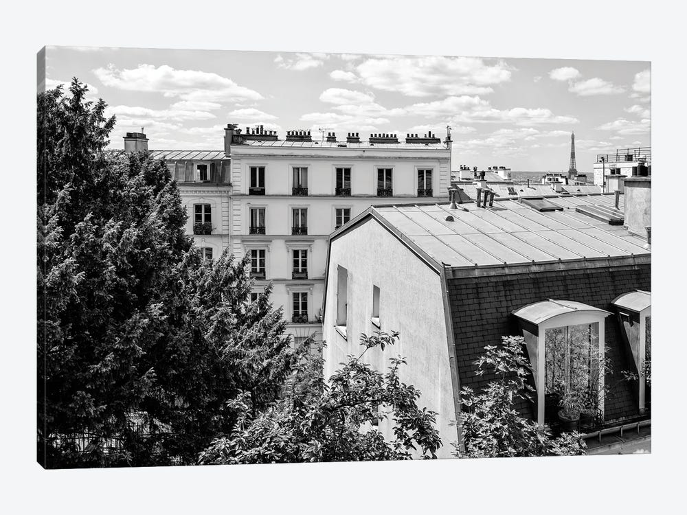 Black Montmartre Series - View Over The Rooftops of Paris by Philippe Hugonnard 1-piece Art Print