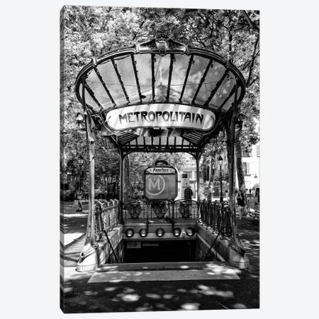 Black Montmartre Series - Abbesses Metropolitain Canvas Print #PHD1894} by Philippe Hugonnard Canvas Print