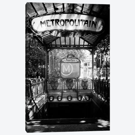 Black Montmartre Series - Montmartre Metro Canvas Print #PHD1895} by Philippe Hugonnard Art Print
