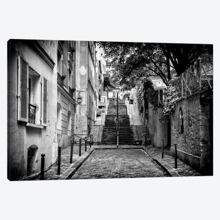 Black Montmartre Series - Paris Street View Canvas Print #PHD1898} by Philippe Hugonnard Canvas Wall Art