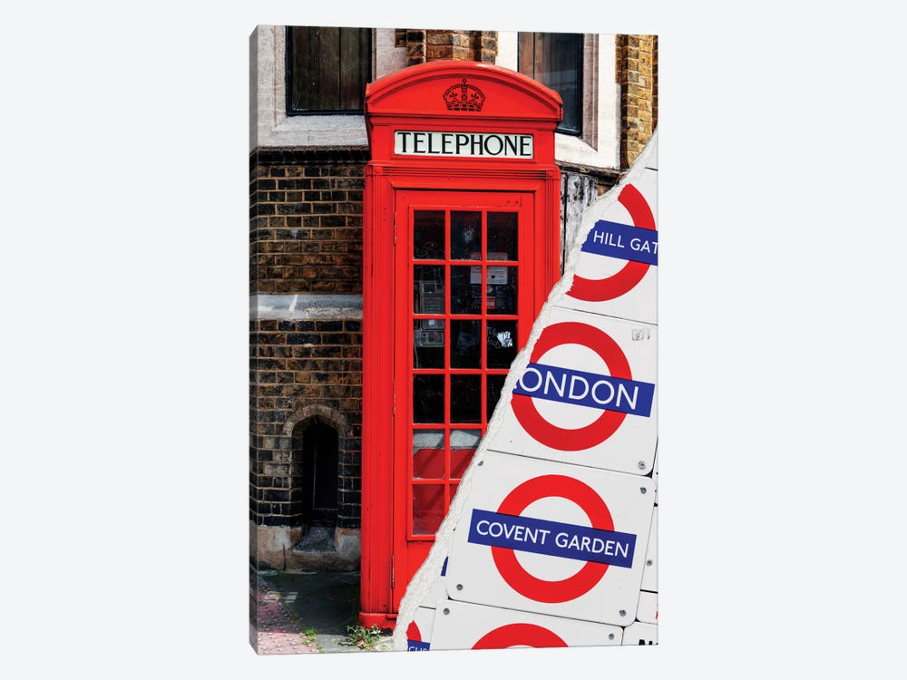 Dual Torn Series - London Booth by Philippe Hugonnard 1-piece Canvas Art Print