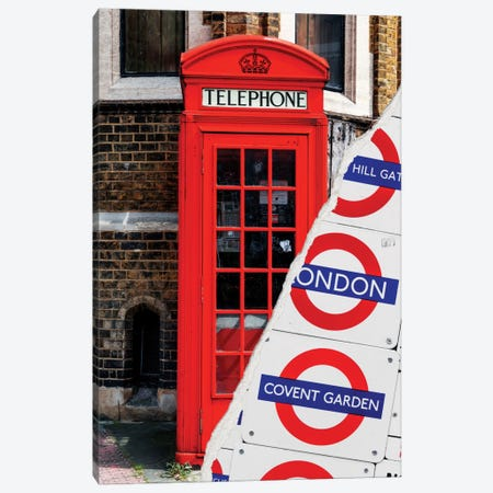 London Booth Canvas Print #PHD18} by Philippe Hugonnard Art Print